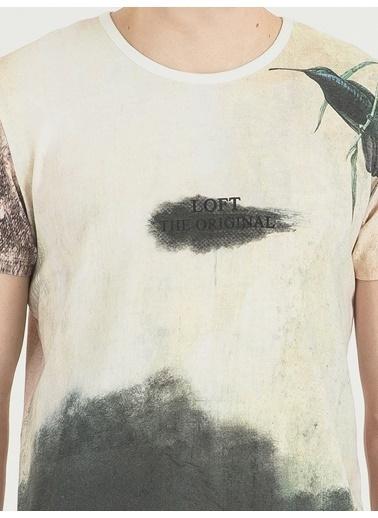 Loft Desenli T-Shirt Somon